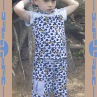 детские штанишки, hand made, рукоделие, ручная работа, оригинальная одежда, натуральные материалы, хлопок, трикотаж, детям, детская одежда, для детей, на заказ, шитье, штанишки, летний костюм, футболка, кофточка, синий, голубой
