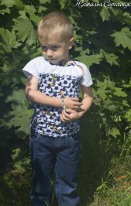 детская футболка +своими руками