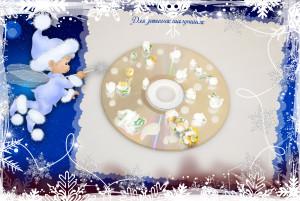 Детские новогодние поделки из дисков