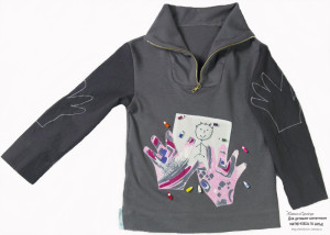 серый джемпер +для мальчика, детская кофточка, джемпер для мальчика, одежда ручной работы