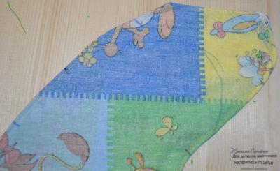 карман в шве с листочкой